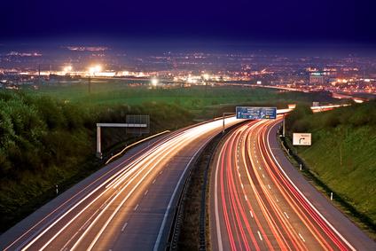 Mobiles Internet Autobahn-Test