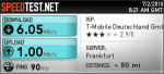 Speed-Test bei speedtest.net