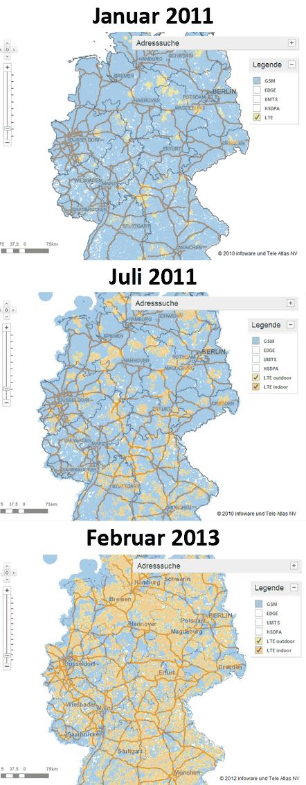 Vodafone LTE-Ausbau 2011-2013