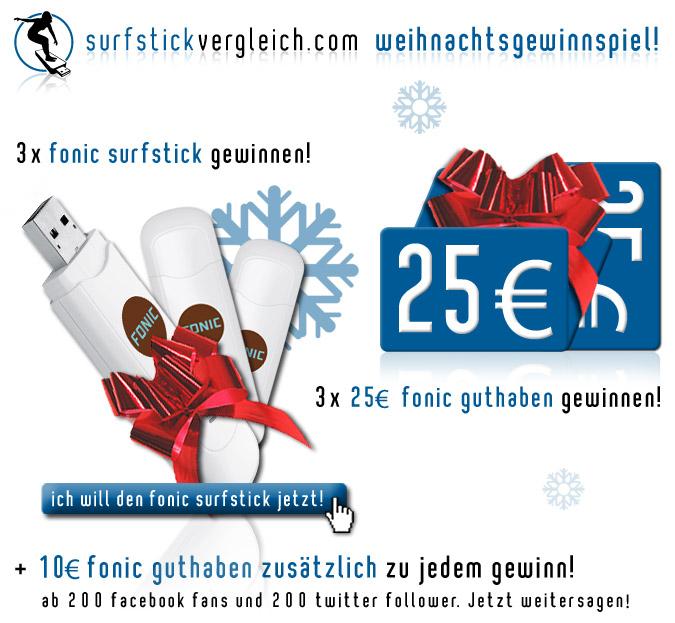 surfstickvergleich.com Weihnachtsgewinnspiel