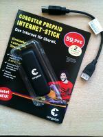 congstar Internet-Stick, Mappe und USB-Kabel