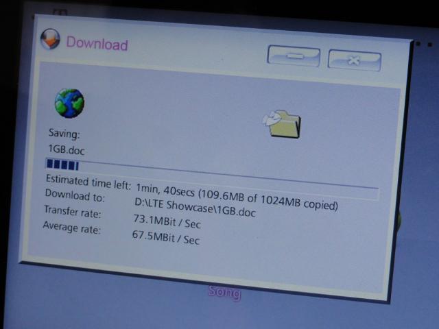 Telekom LTE Download Speedtest bei LTE2600 Showcase