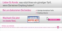 Telekom Werbebanner 2011 Anti-O2-Kampagne zu Netzproblemen