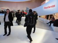 Vodafone LTE Showcase Live-Videobild vom Messe-Pavillon